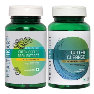 HealthKart Water Cleanse & Green Coffee Bean Extract Combo