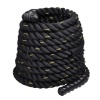 B Fit USA Battle Rope,  50 ft  Black
