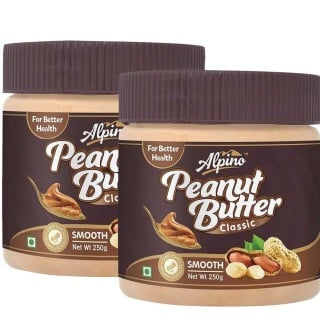 Alpino Peanut Butter Smooth (Pack of 2),  Natural  0.250 kg