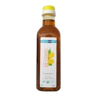 HealthKart Cold Pressed Organic Mustard Oil,  0.5 L