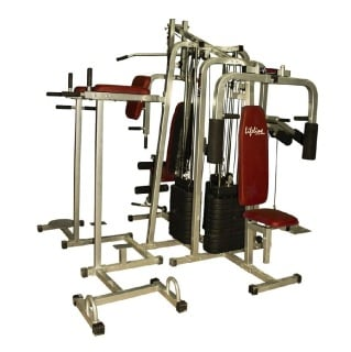 Home Gym - Lifeline 6 Station Home Gym 3 Weight Lines