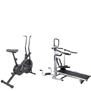 Lifeline Fitness Combo 4 in 1 Deluxe Treadmill and Exerciser Cycle 102