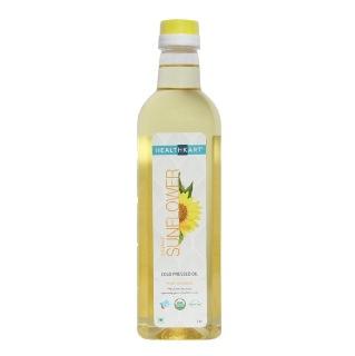 6 - HealthKart Cold Pressed Organic Sunflower Oil,  1 L