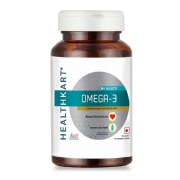 2 - HealthKart Omega 3 1000mg with 180mg EPA and 120mg DHA,  90 softgels