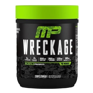 MusclePharm Wreckage Pre Workout,  0.79 lb  Fruit Punch