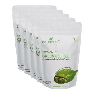 Neuherbs Organic Green Coffee Beans Powder for Weight Loss - Pack of 5,  0.350 kg