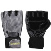 Aurion Weight Lifting Gloves for Workout,  Black and Grey  Free Size