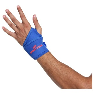 4 - SportSoul Wrist Support with Thumb Wrap,  Royal Blue  Free Size