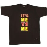 MuscleBlaze It's Me Vs Me T-Shirt,  Black  Small