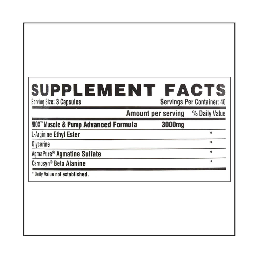 Nutrex NIOX Ultra, 120 capsules Unflavoured