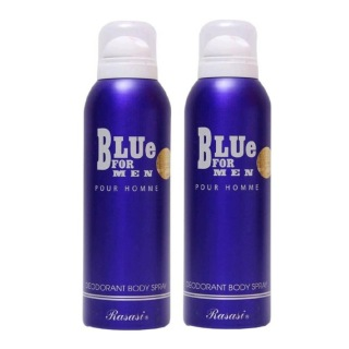 Rasasi Blue Deo Pack of 2,  200 ml  for Men