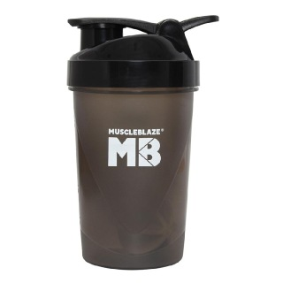 MuscleBlaze Small Ziddis Don't Wait Shaker,  Assorted  400 ml