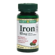 Nature's Bounty Iron 65 Mg, 100 tablet(s)