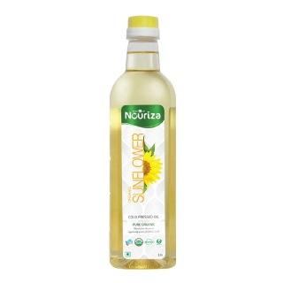Nouriza Cold Pressed Organic Sunflower Oil,  1 L