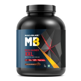 MuscleBlaze Mass Gainer XXL with Complex Carbs and Proteins in 3:1 ratio,  6.6 lb  Chocolate