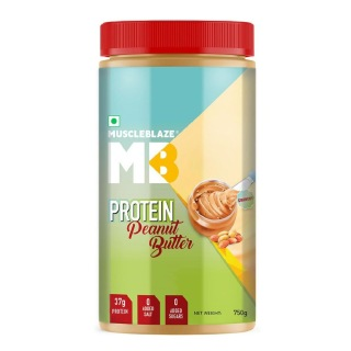 MuscleBlaze High Protein Natural Peanut Butter Unsweetened,  0.750 kg  Crunchy